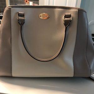 Tan/peach coach purse